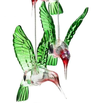 Solo Powered Crystal LED Hummingbird Chandelier - Solar Lamps - solo-powered-crystal-led-hummingbird-chandelier