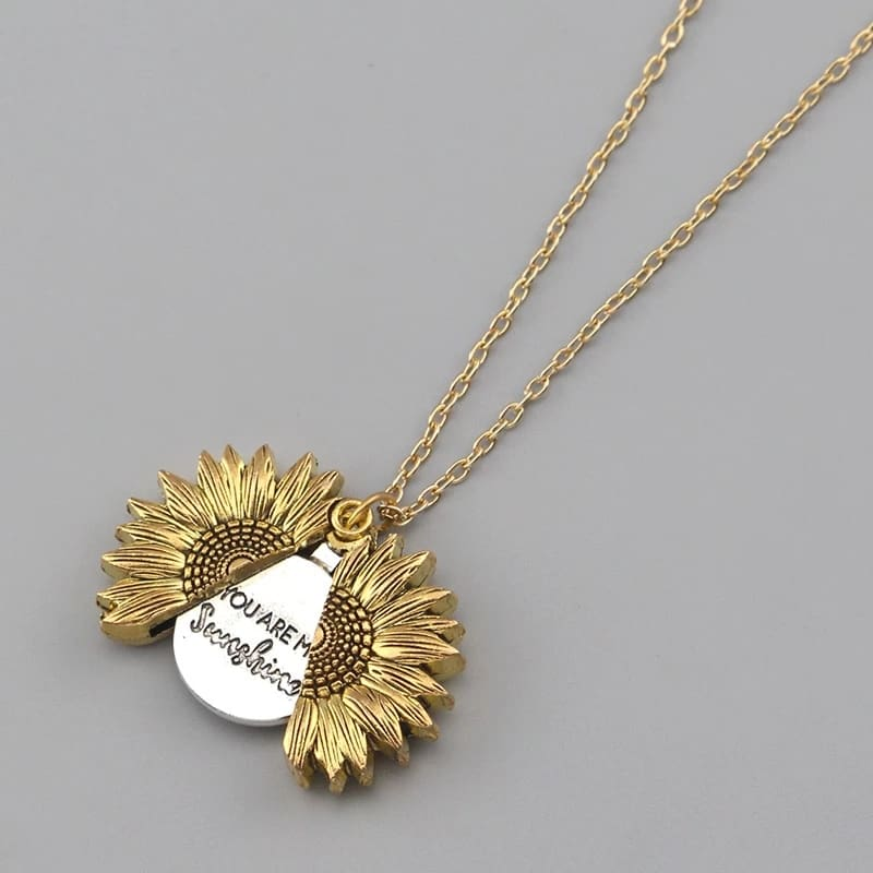 Sunflower NecklaceYou Are My Sunshine - Pendant Necklaces - sunflower-necklace