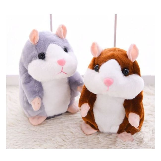 Talking Hamster!! - Stuffed & Plush Animals - GREY - talking-hamster
