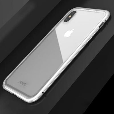 Iwantzone.com - Ultra Magnetic Iphone Case - Fitted Cases - For Iphone X / Silver Clear - Ultra-Magnetic-Phone-Case