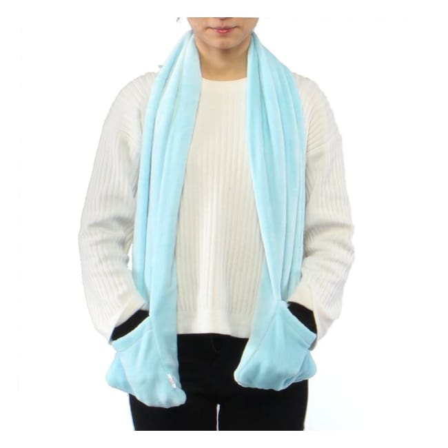 USB Heated Scarf - Electric Heaters - Blue - usb-heated-scarf