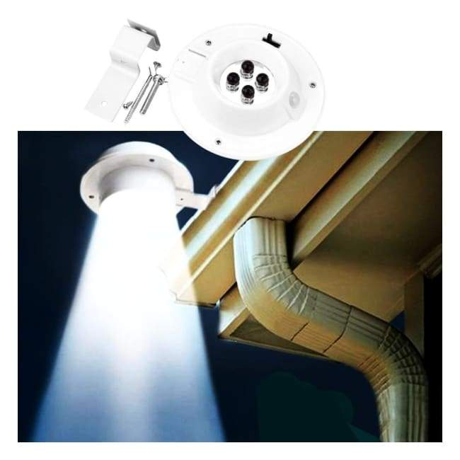 Iwantzone.com - Waterproof Led Solar Powered Gutter Light Outdoor - Solar Lamps - 4-Led-Solar-Powered-Gutter-Light-Outdoor