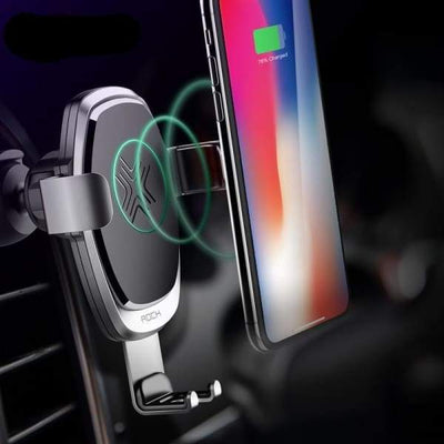 Wireless Metal Gravity Car Holder Charger - Car Chargers - wireless-metal-gravity-car-holder-charger