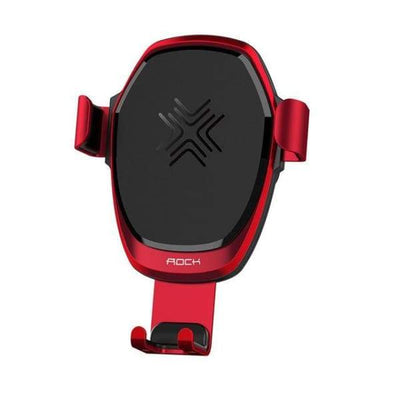 Wireless Metal Gravity Car Holder Charger - Car Chargers - Red - wireless-metal-gravity-car-holder-charger