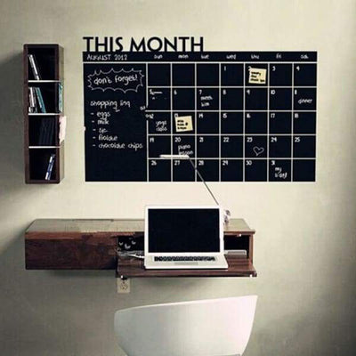 Write & Erase Monthly Decal Planner - Wall Sticker Chalkboard - write-erase-monthly-decal-planner-wall-sticker-chalkboard