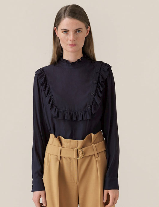 Florenza Blouse - Soft Black