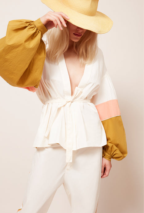 Protis Wrap Top - Milk