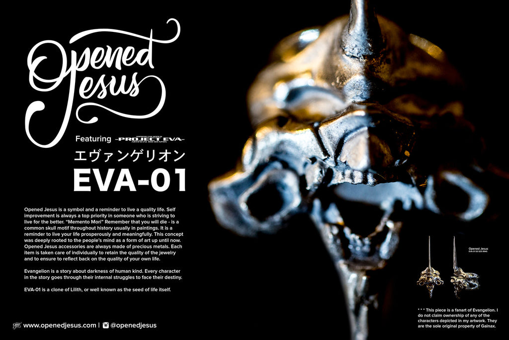 Evangelion unit 01 sterling silver ring by Opened Jesus