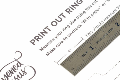image regarding Free Printable Ring Sizer called Totally free Opened Jesus ring sizer