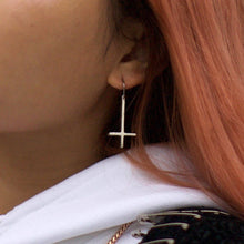 Reversible Cross Sterling Silver Earring