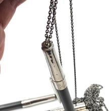 Sterling Silver BIC Pen Cap Necklace