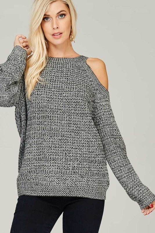 Aria Cold Shoulder Sweater