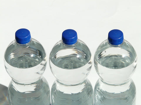 Disposable plastic water bottles