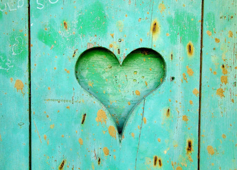 Wooden green heart
