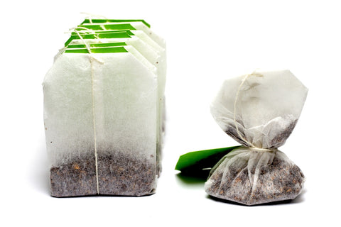 Green eco teabags