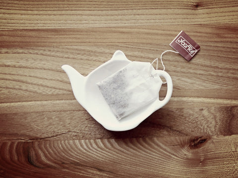 Teabag on wood