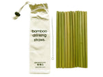Natural Bamboo Straws: Assembled in Canada, Great for Parties