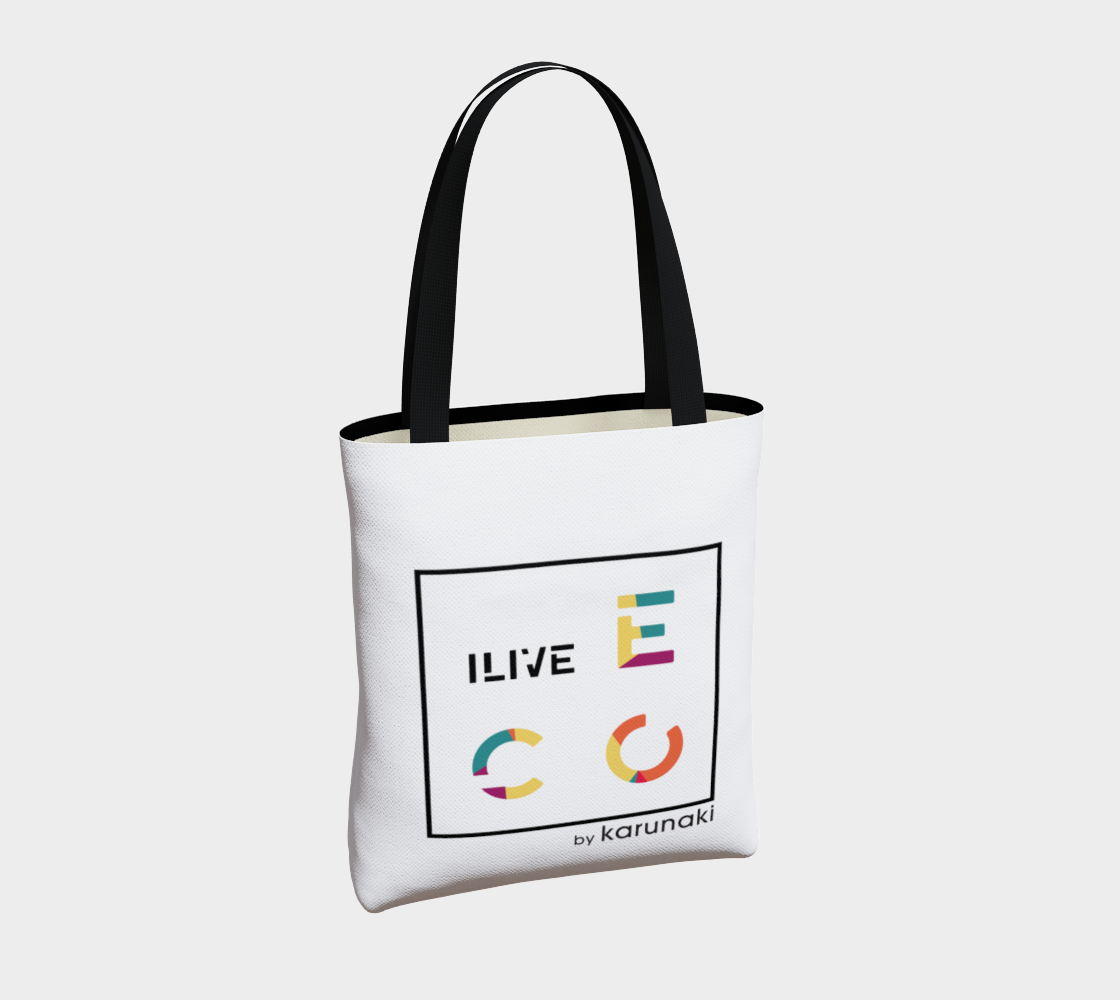 I LIVE ECO High Quality Tote Bag