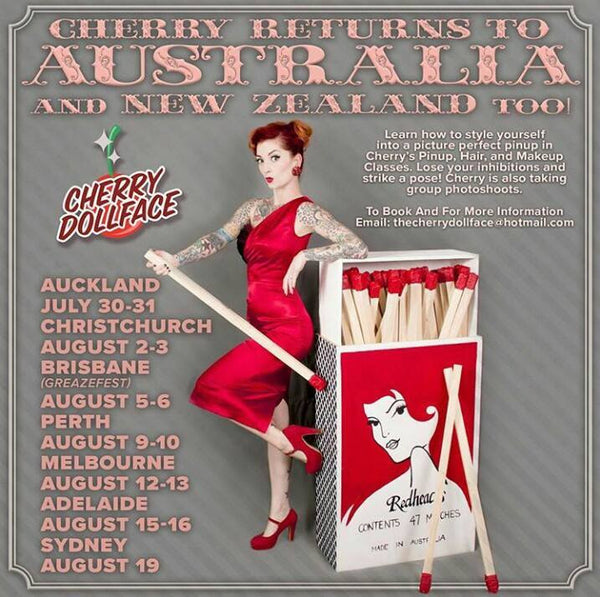 Cherry Dollface in store 13 August 2017!