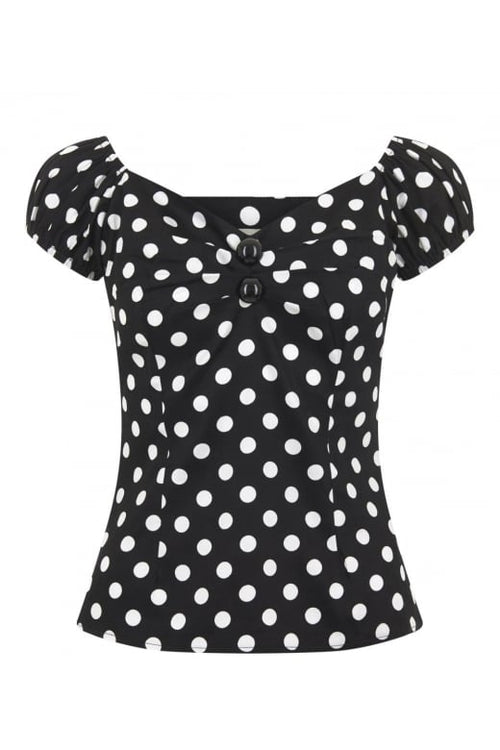 Dolores Polka Dot Black/White