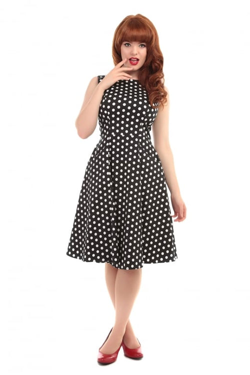 Hepburn Polka Dot Doll Dress