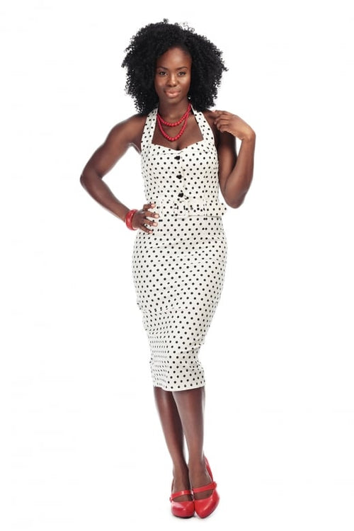 Wanda Polka Dot Pencil Dress