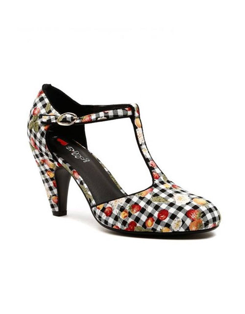 I Love Billy Albot Shoes Black Gingham