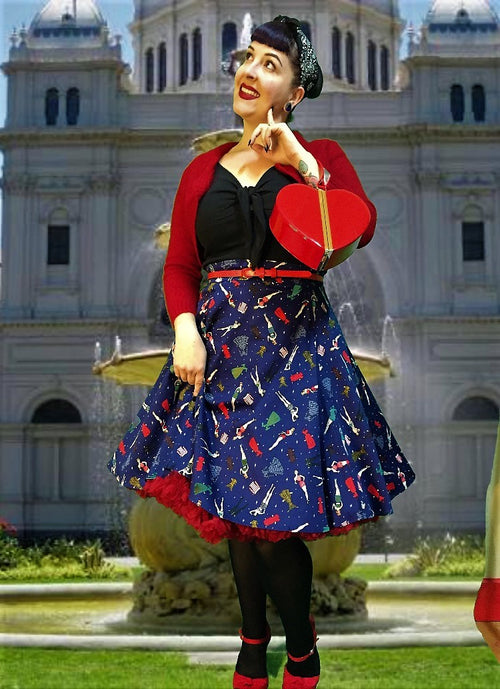 Collectif Tammy Paper Doll Skirt