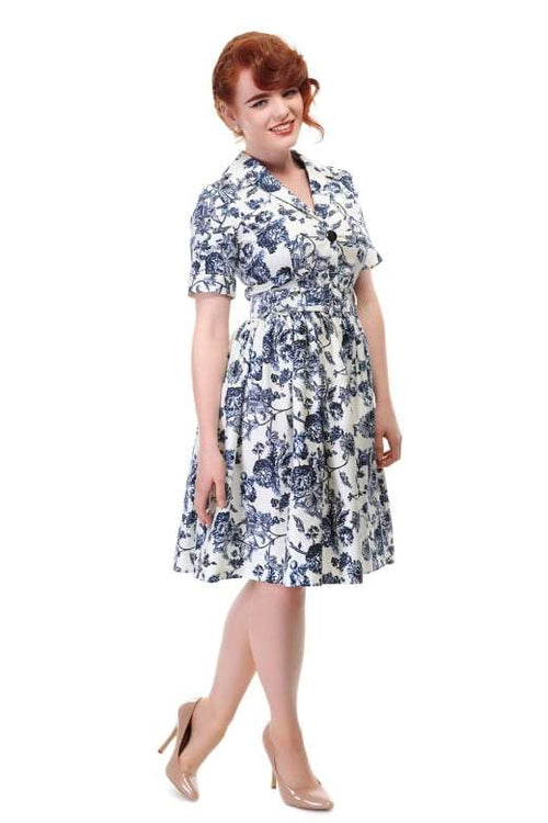 Janet Toile Print Shirt Dress