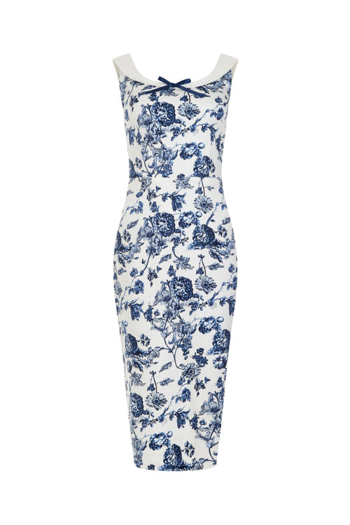 Maddison Toile Print Pencil Dress