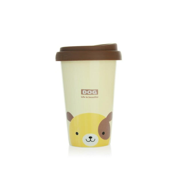 Cute Animal Pattern Reusable Ceramic Coffee Cup
