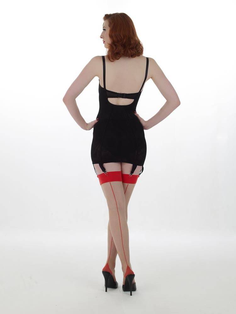 What Katie Did Retro Contrast Seamed Stockings