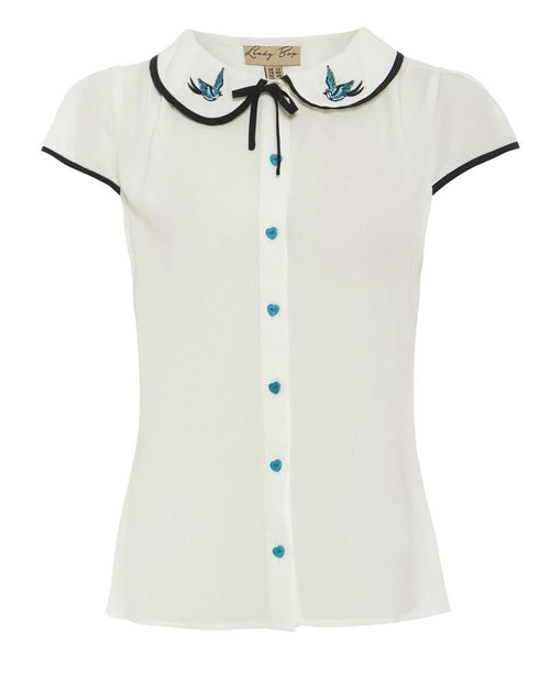 Tracey Mae Blue Swallows Top