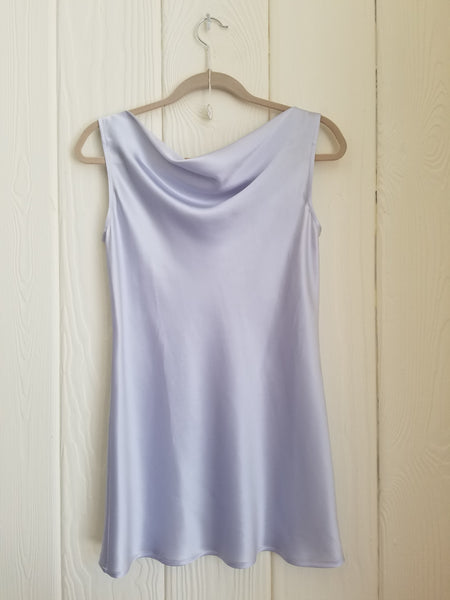 Bateau Neck top in silk charmeuse