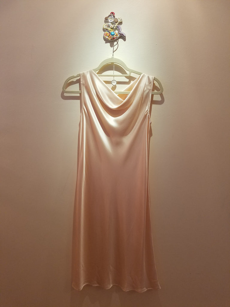 Bateau Neck dress in Silk Charmeuse
