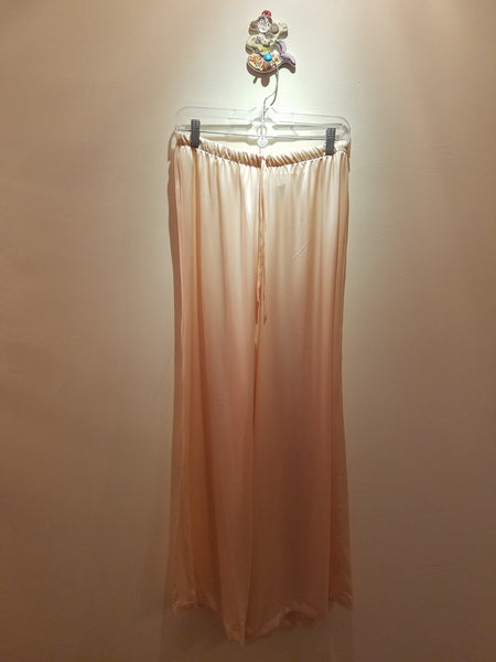 Palazzo pants in silk charmeuse