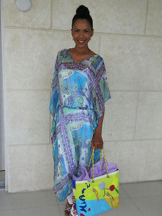 Long Caftan with waist tie