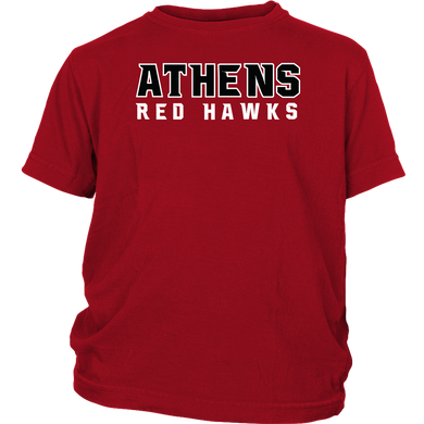 Athens Red Hawk Big Brother Youth Short Sleeve Shirt