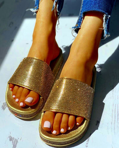 Fashion Gold Sandals