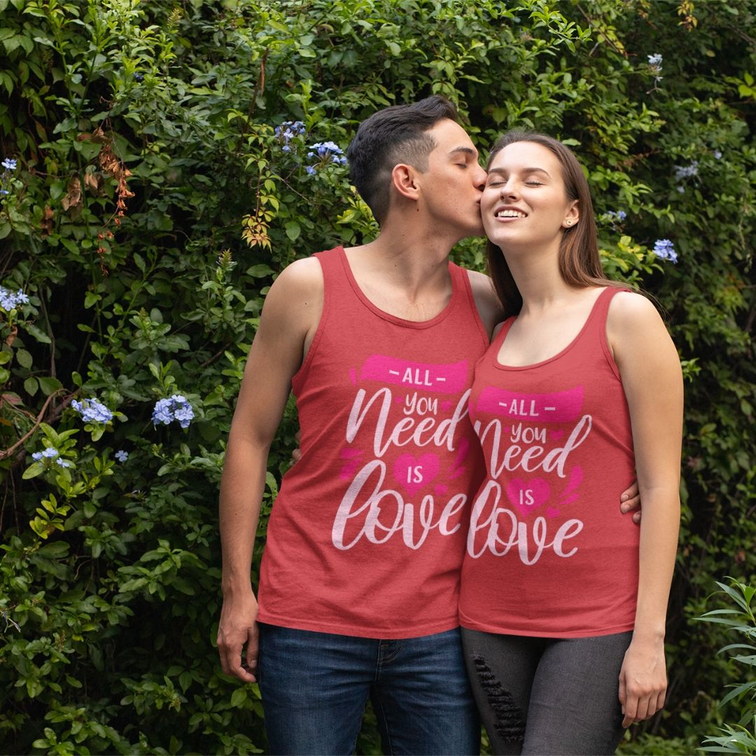 'All you need is Love' Unisex Tank Top
