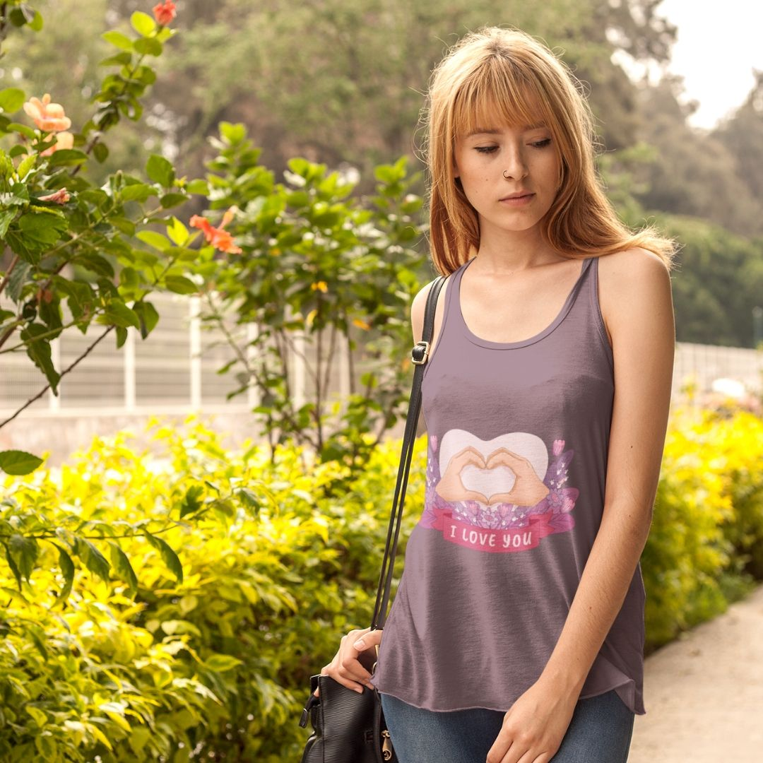 Racerback Tank 'I Love You'