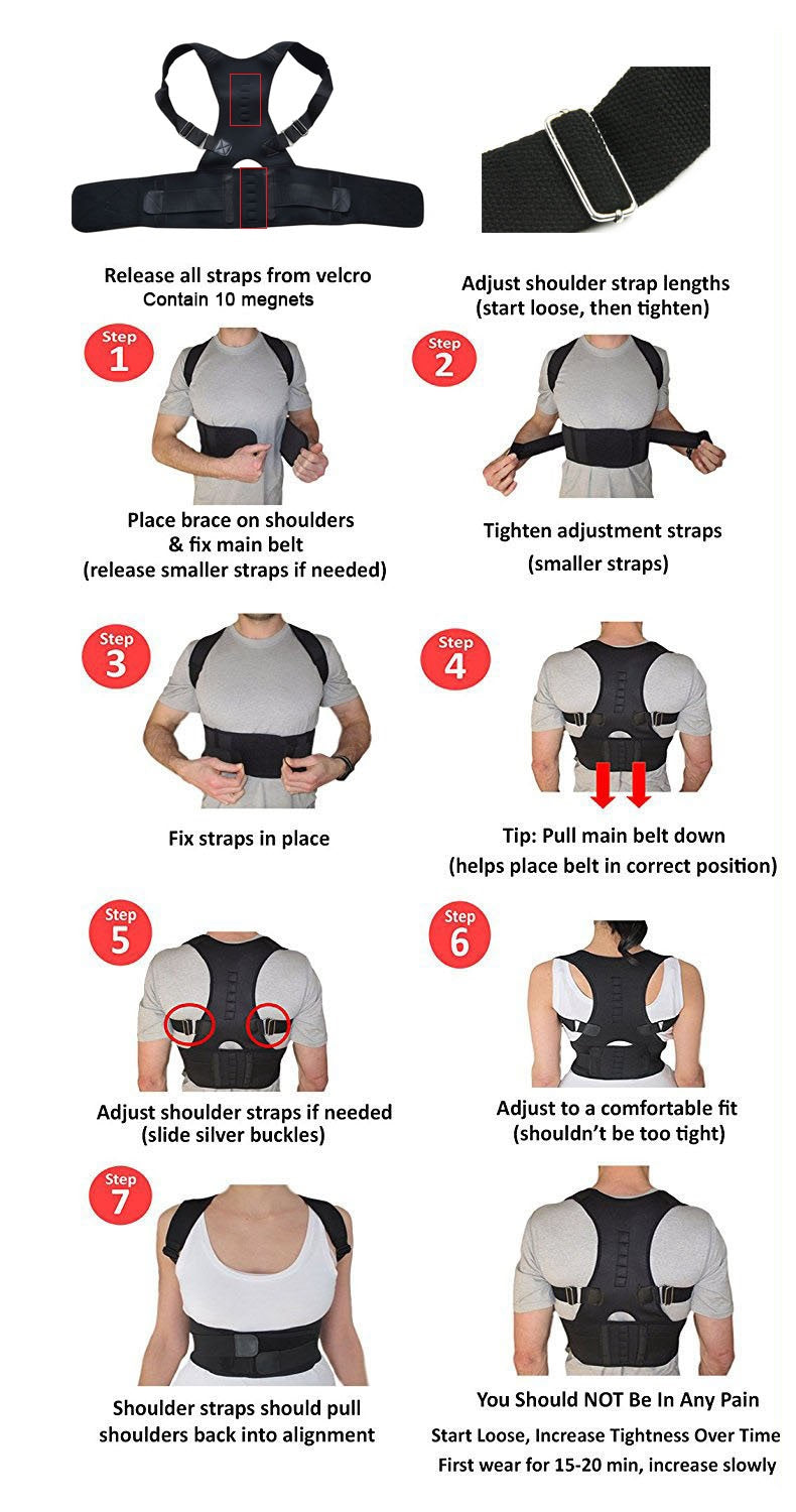 Posture Therapy. Back-Free Pain