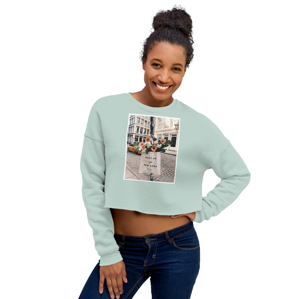 'Meet me NYC' Crop Sweatshirt