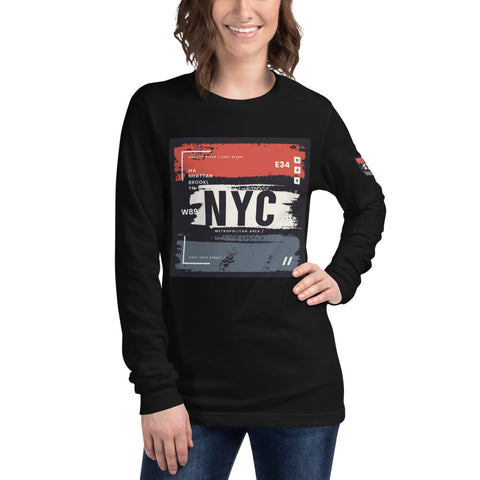 NYC Black Long Sleeve Tee
