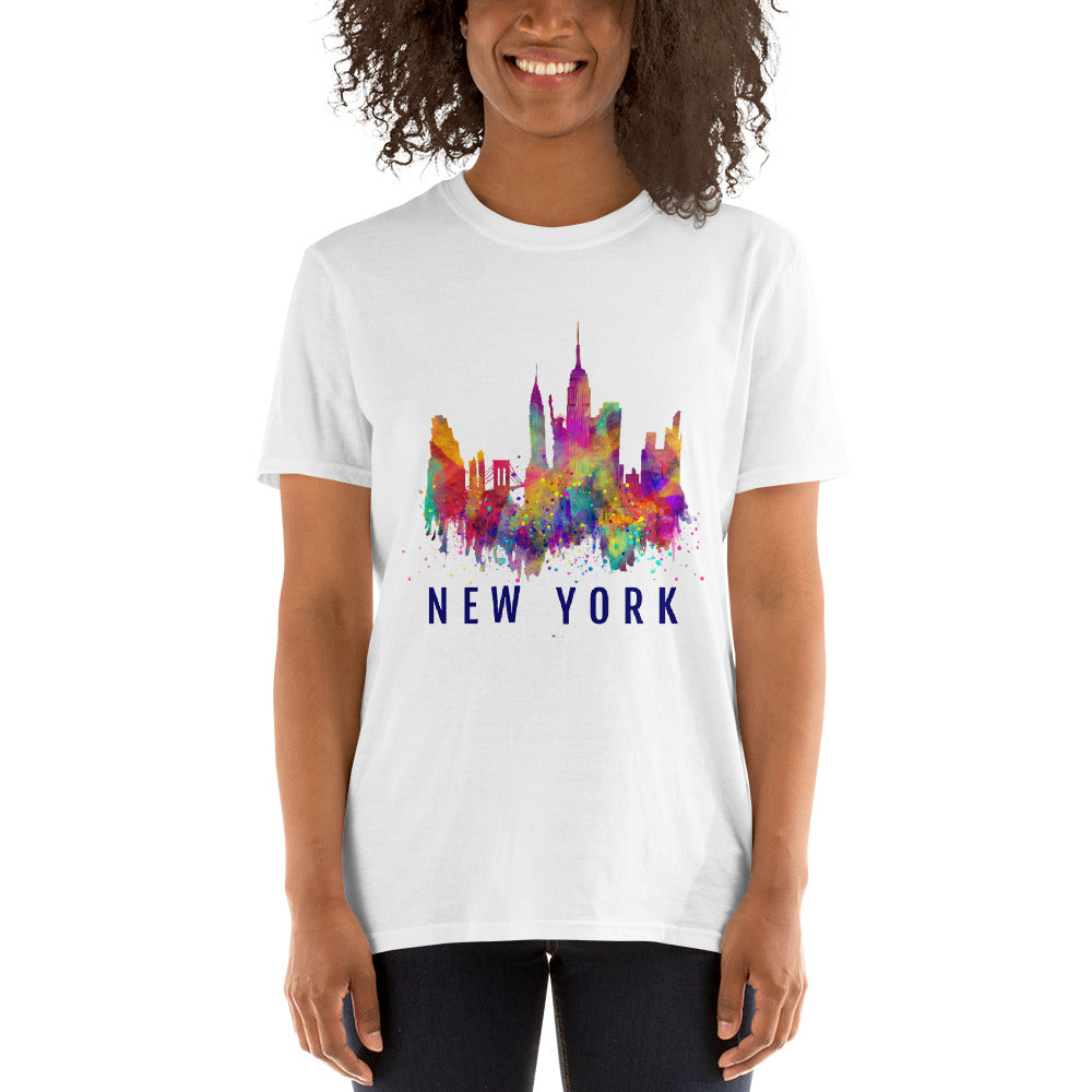 NY Silhouette Colors short sleeve T-Shirt S-3XL