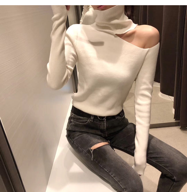 Knitted Sweater Off Shoulder