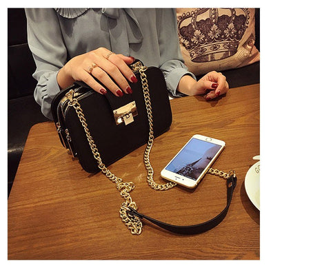 Leather Shoulder Chain Bag