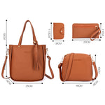 Load image into Gallery viewer, Set Four-Piece Shoulder Bag Tote Messenger Purse Bag