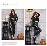 Load image into Gallery viewer, Leather Leggings with High Waisted Fall/Winter