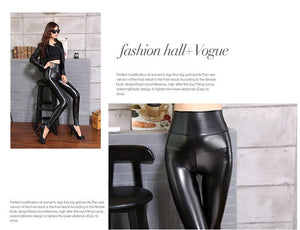 Leather Leggings with High Waisted Fall/Winter